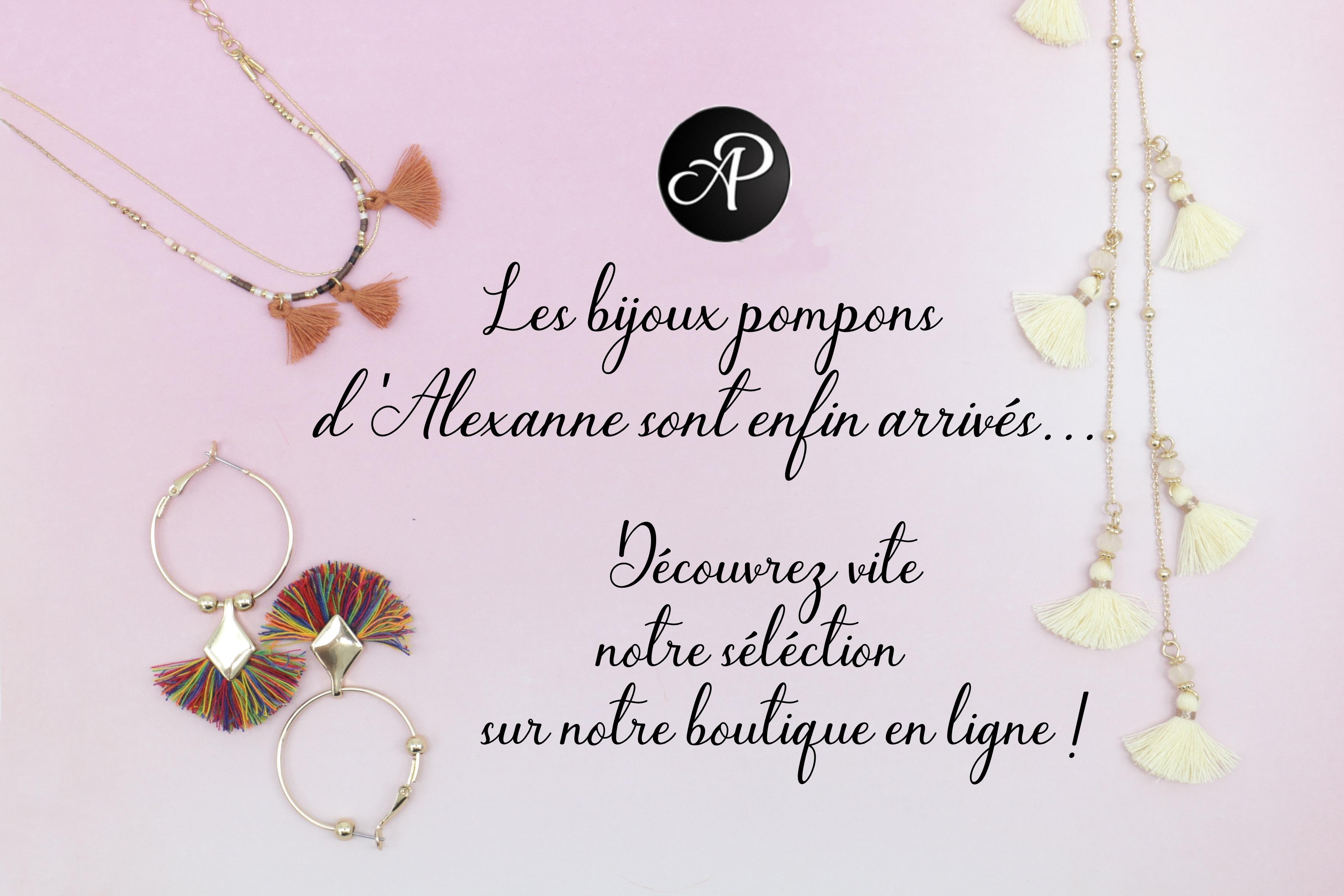 Alexanne bijoux pompon