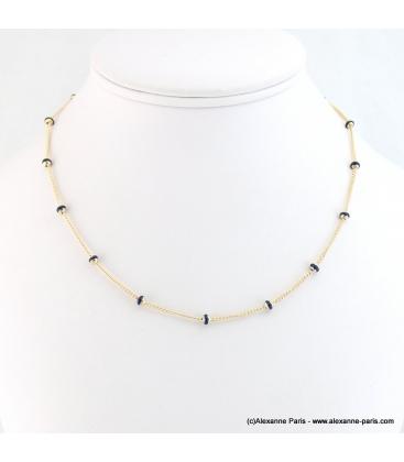 collier minimaliste à bille