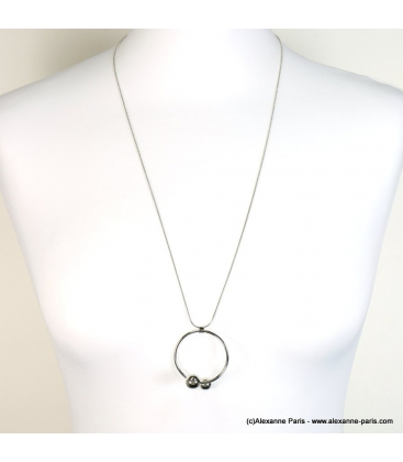 collier minimaliste perles
